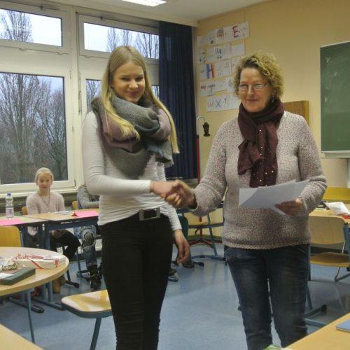 Tine mit Frau Petersen