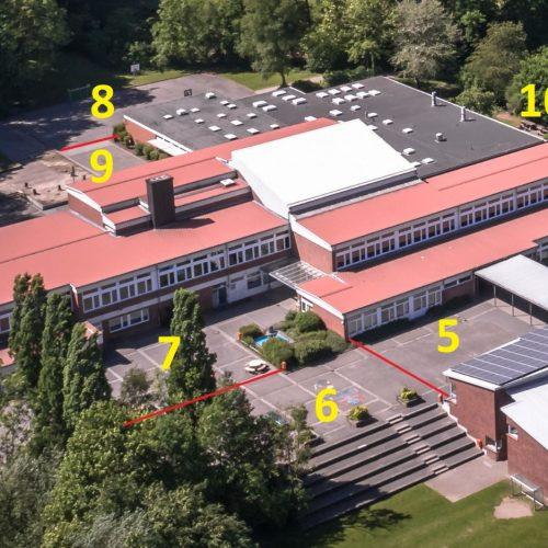 Einteilung Schulhof