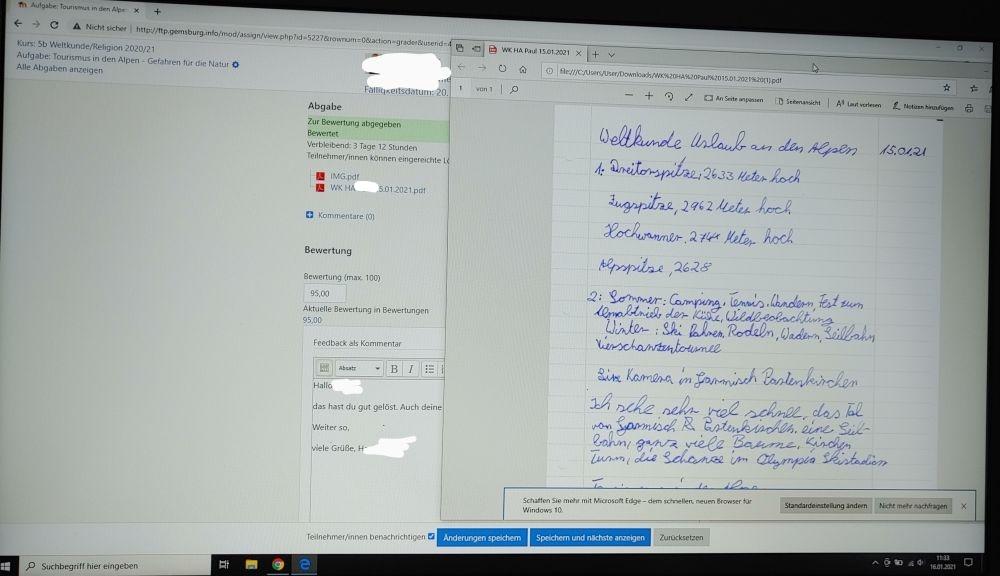 Eingereichte Lösung per pdf (Klasse 5)